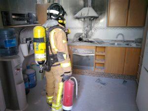 Extinguido un incendio en una vivienda de Cieza