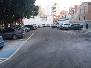 Inminente conclusión de la obra del aparcamiento del Molino de Capdevila de Cieza