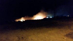 Un nuevo incendio asola 'Las Polveras', muy próximo al casco urbano de Cieza