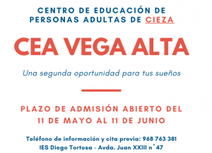 La escuela de adultos de Cieza abre el plazo de inscripción para el curso 2021-22