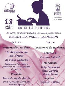 La Concejalía de Mujer e Igualdad y la Biblioteca Padre Salmerón conmemoran el Día Internacional de la Mujer Escritora